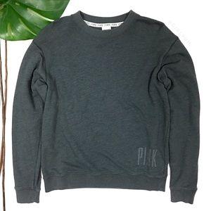 PINK Victoria's Secret Gray Oversized Sweatshirt S